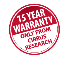 15 Year Warranty from Cirrus Research plc