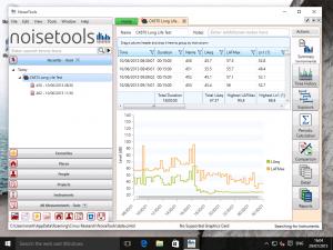 NoiseTools running in Windows 10