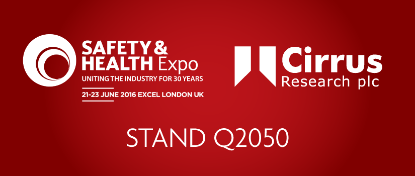 Cirrus Exhibiting at Safety & Health Expo 2016