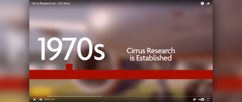 screenshot of cirrus research our story video