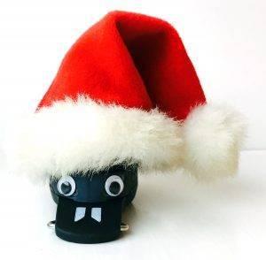 dosebadge5 wearing a santa hat
