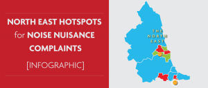 North East Hotspots for Noise Nuisance Complaints [Infographic]