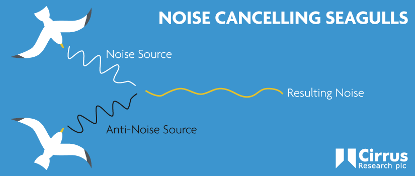 diagram showing how noise cancelling seagulls work