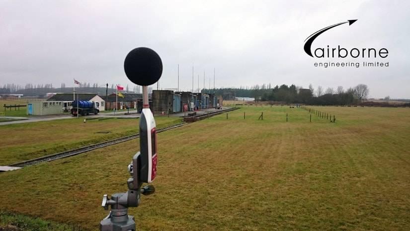 Optimus sound level meter measuring rocket noise at Westcott Venture Park