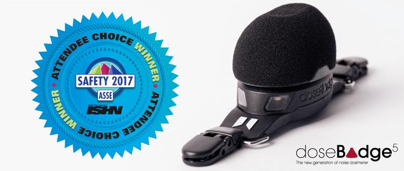 dosebadge5 noise dosimeter asse choice awards winner