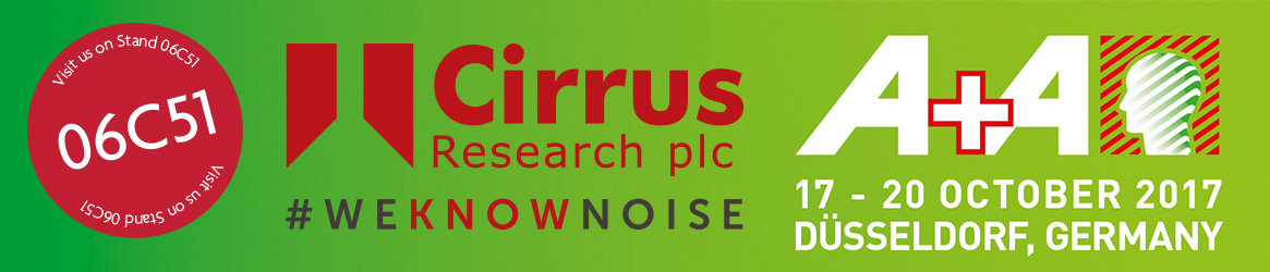 Visit Cirrus Research at A+A 2017 Stand 06C51