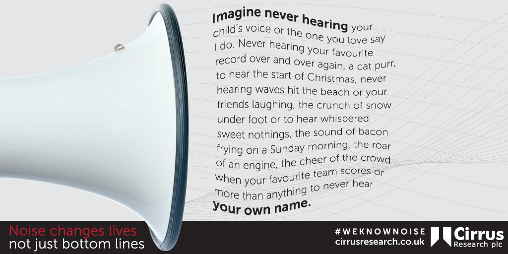 graphic from Noise Changes Lives campaign
