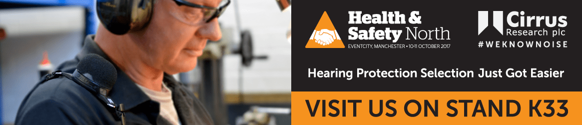 Visit Cirrus Research at Health & Safety North 2017 banner