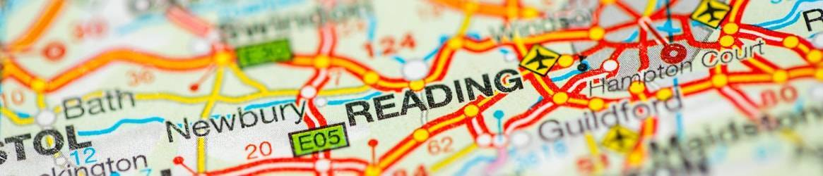 map or reading, berkshire, uk