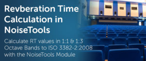 Calculate Reverberation Time with the NoiseTools RT Module