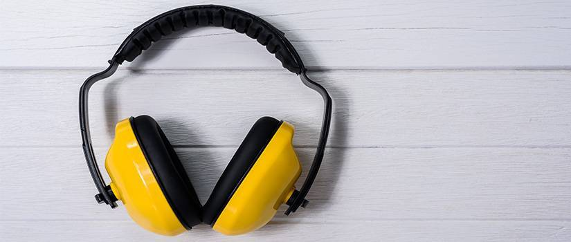 An image showing yellow ear defenders
