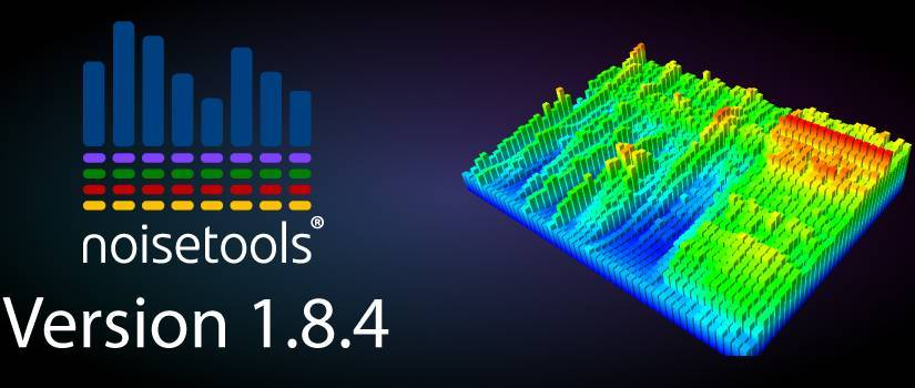 An image displaying the latest version number of the NoiseTools software, which is 1.8.4