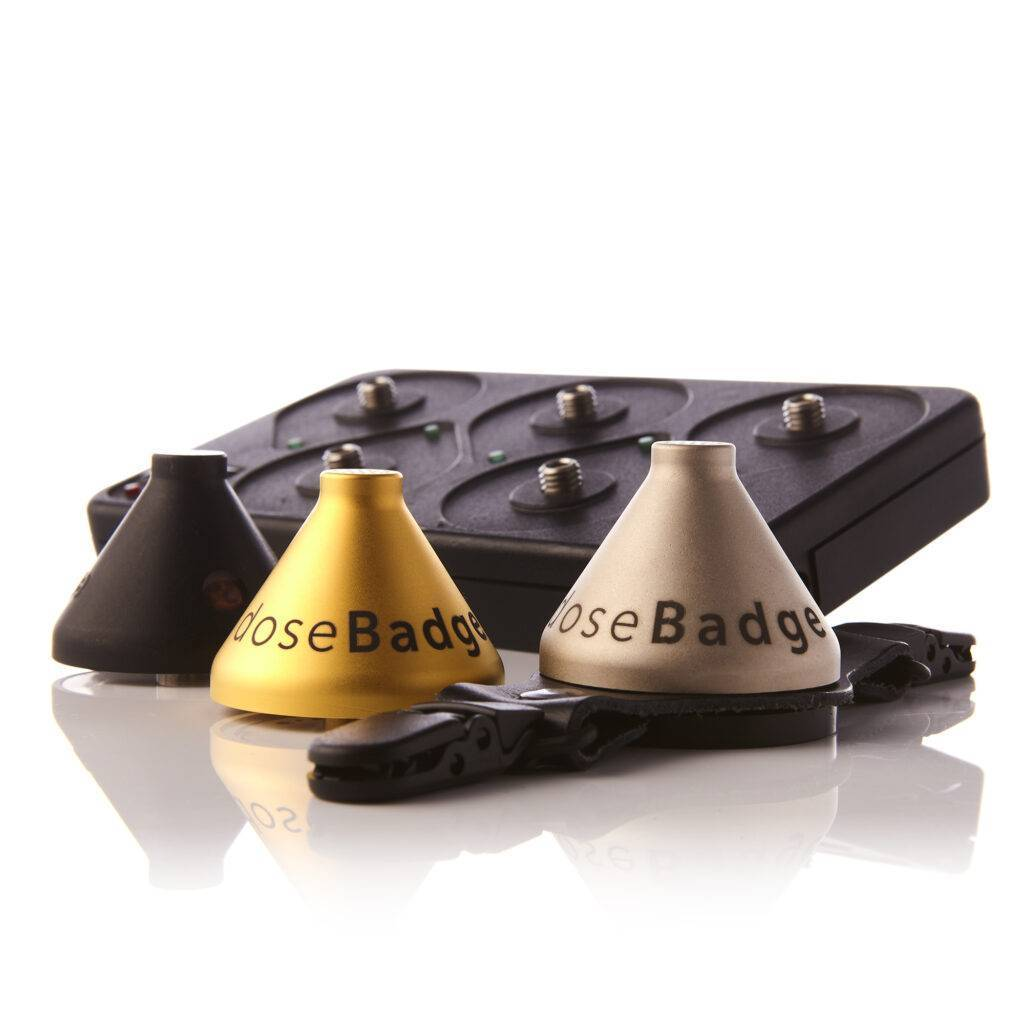 An image of the Original doseBadge noise dosimeter, which can be used for noise measurement in tree surgery.