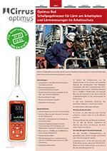 Optimus Red Sound Level Meters (DE)