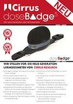 doseBadge<sup>5</sup>: Die neue generation L&auml;rmdosimeter (DE)