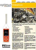 Optimus Yellow Sound Level Meters (DE)